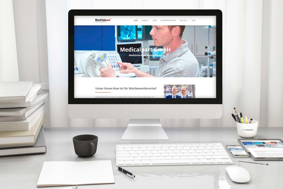 Responsive Webseite - MedicalPart Medizintechnik